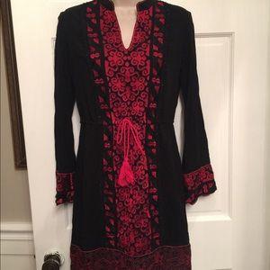 Chelsea & Violet Dresses - Chelsea and Violet black long sleeve dress red emb